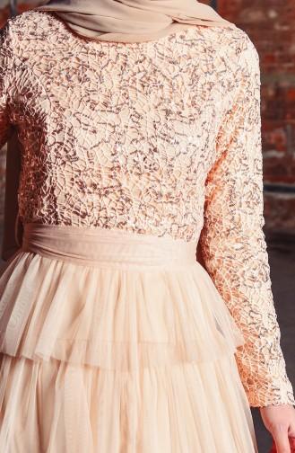 Powder Islamic Clothing Evening Dress 52735-09