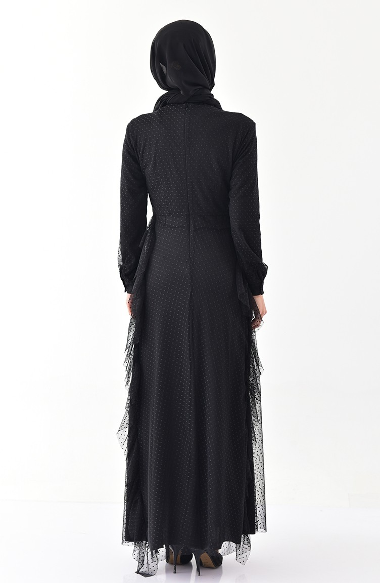 0d93110ff35 Frilly Dress 4268-01 Black 4268-01