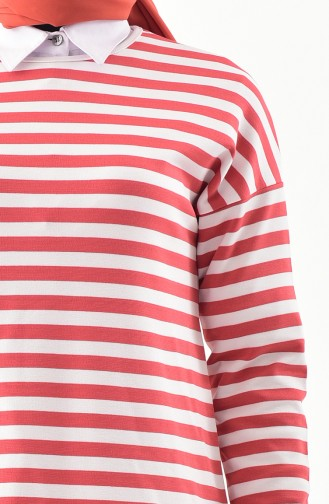 Striped Tunic  30108-02 Red 30108-02
