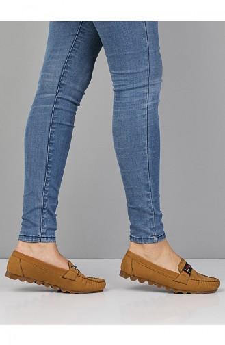 Tobacco Brown Woman Flat Shoe 2022-03