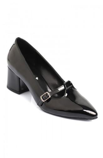 Black Heeled Shoes 8401-1