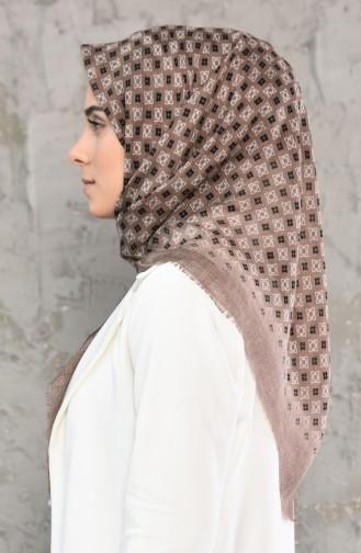 Mesh Fabric Cotton Scarf 2176-04 light Mink 2177-04
