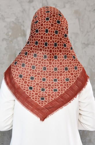 Petek Dokuma Cotton Eşarp 2178-02 Kiremit 2178-02