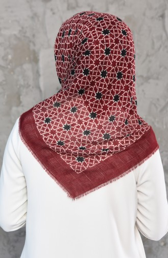 Mesh Fabric Cotton Scarf 2178-06 Cherry 2178-06