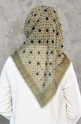 Mesh Fabric Cotton Scarf 2178-13 light Green 2178-13