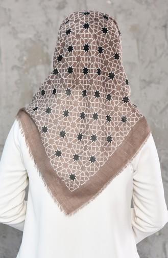 Mesh Fabric Cotton Scarf 2178-14 light Mink 2178-14