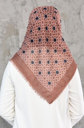Mesh Fabric Cotton Scarf 2178-16 Dry Rose 2178-16
