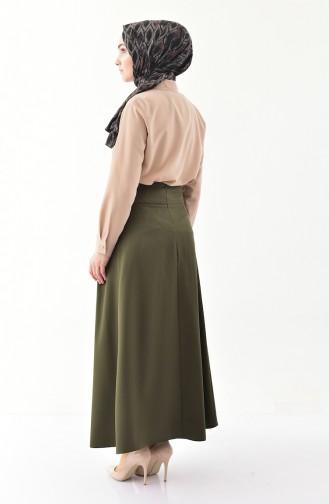 Pleated Skirt 0402-04 Khaki 0402-04