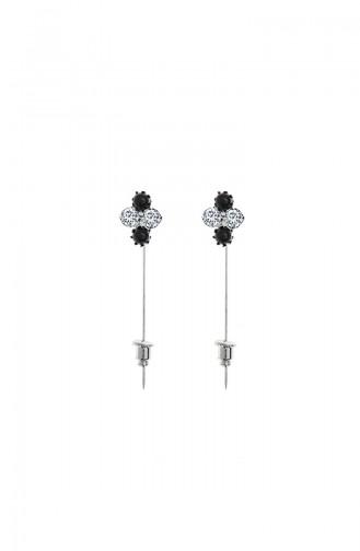 Silver Plated Scarf & Shawl Needle 07-0422-02-13 Black 07-0422-02-13