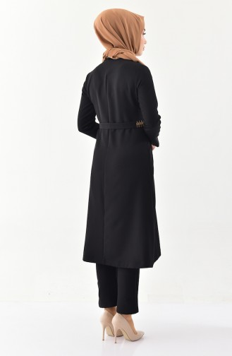 MISS VALLE Embroidered Cape Pants Double Suit 9000-03 Black 9000-03
