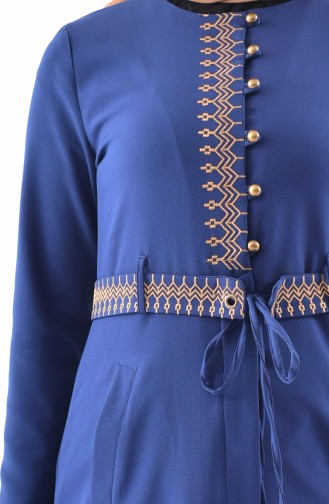MISS VALLE Embroidered Cape Pants Double Suit 9000-05 Navy Blue 9000-05