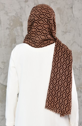 Honeycombed Patterned Shawl 330-103 Light Brown Brown 330-103