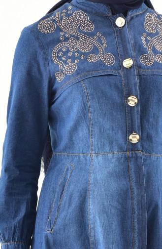 Ensemble Deux Pieces Jeans 9029-02 Bleu Marine 9029-02