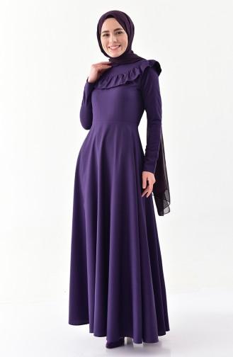 Robe Hijab Pourpre 7203-10
