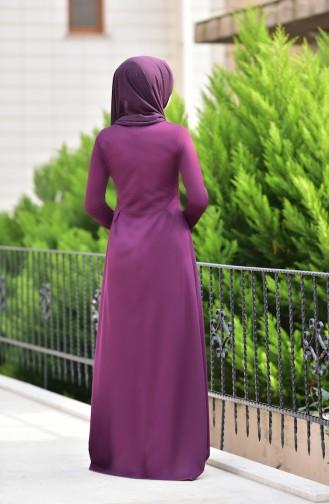 Lila Hijap Kleider 2264-05