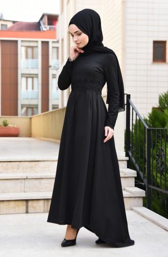 Lace Detailed Dress 2264-06 Black 2264-06