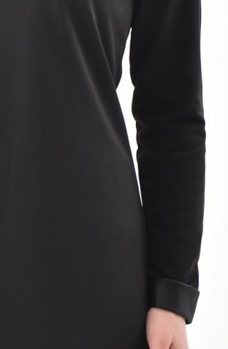 Garnili Elbise 4000-02 Siyah 4000-02