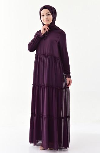 fac3eefc6f55d Şifon Elbise Modelleri ve Fiyatları - Tesettür Giyim | SefaMerve
