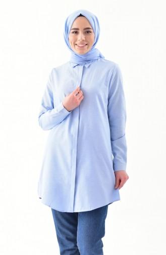 Hidden Buttoned Tunic 2051-03 Baby Blue 2051-03