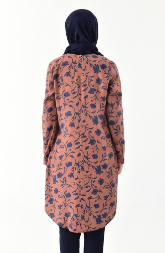 Floral Patterned Tunic 1066-02 Taba 1066-02