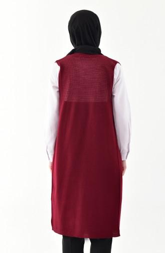 iLMEK Fine Knitwear Pocketed Vest 4120-09 Claret Red 4120-09
