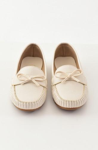 حذاء مُسطح باليرينا 100-02 لون بيج 100-02