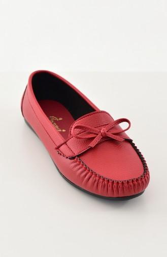 حذاء مُسطح باليرينا 100-06 لون احم 100-06