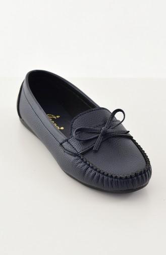 حذاء مُسطح باليرينا 100-07 لون كحلي 100-07