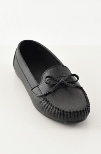 Women Flat Shoes Ballerina 100-09 Black 100-09