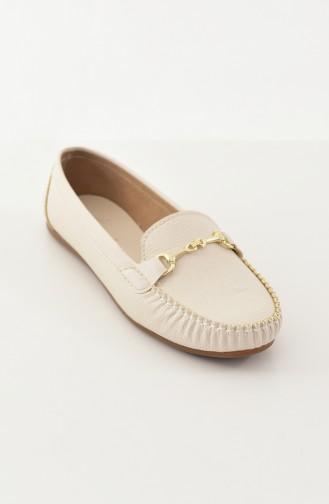 حذاء مُسطح باليرينا 102-02 لون بيج 102-02