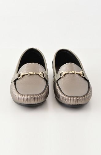 Women Flat Shoes Ballerina 102-08 Platinum 102-08