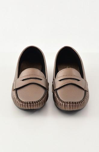 حذاء مُسطح باليرينا 101-01 لون نحاسي 101-01