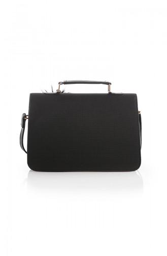 Stilgo Women s Shoulder Bag Tl40z-09 Black Striped 40Z-09