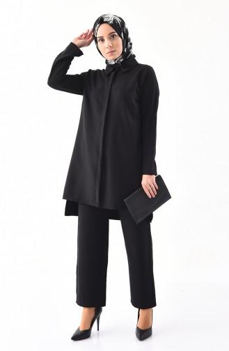 Tunik Pantolon İkili Takım 5243-03 Siyah 5243-03