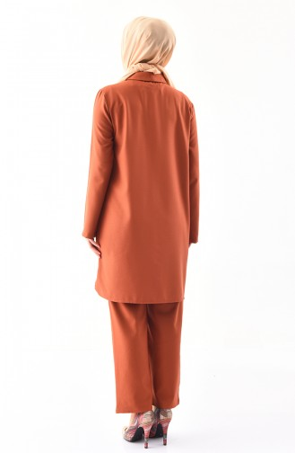 Tunik Pantolon İkili Takım 5243-07 Taba