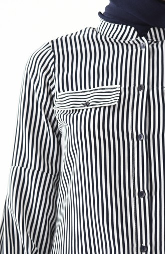 Striped Tunic  2344-01 Navy Blue 2344-01