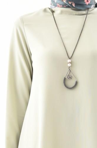 Asymmetrische Tunika mit Halskette 7051-04 Wassergün 7051-04