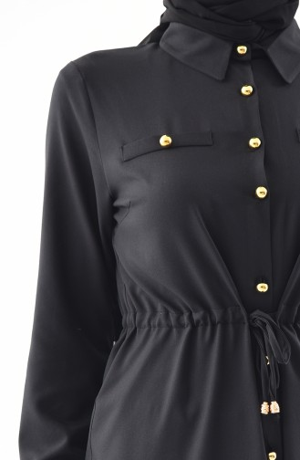 Pleated Waist Tunic 3014-05 Black 3014-05