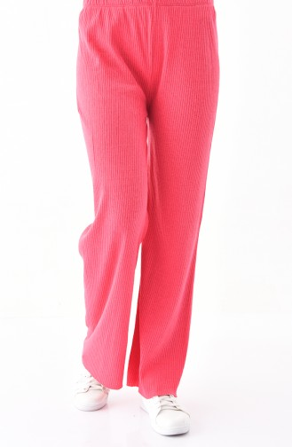 Natural Fabric Wide Leg Pants 1992-09 Fuchsia 1992-09