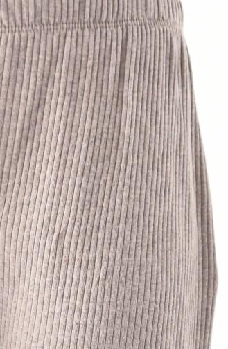Pantalon Large Tissu Naturel 1992-11 Vison 1992-11