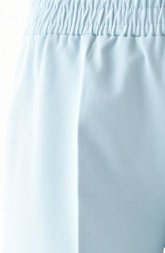 Lastikli Düz Paça Pantolon 2051A-02 Çağla Yeşili