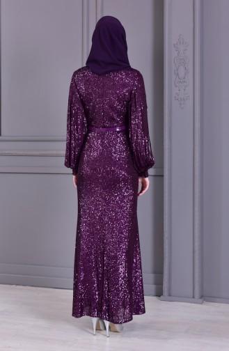 Habillé Hijab Pourpre 81653-04