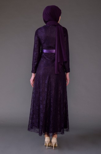 Purple İslamitische Jurk 5541-05