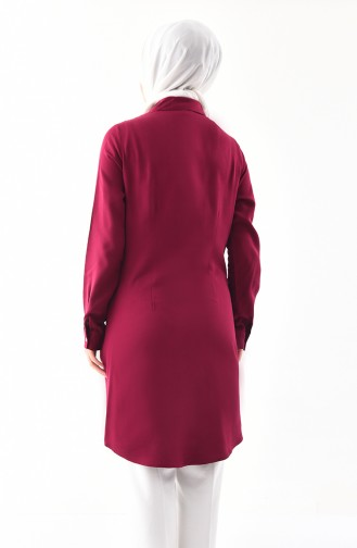 Embroidered Tunic 2306-03 Plum 2306-03