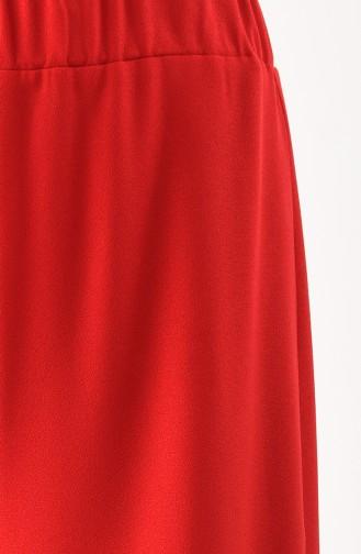 Pantalon Large Taille élastique 2005-02 Rouge 2005-02