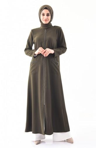 METEX Large Size Zippered Topcoat 1105-05 Khaki 1105-05