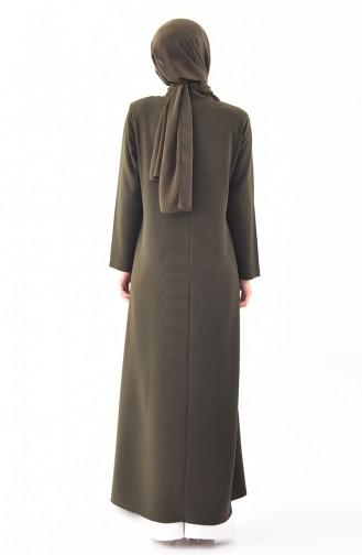 ميتيكس معطف خفيف بتصميم سحاب و بمقاسات كبيرة 1105-05 لون أخضر كاكي 1105-05