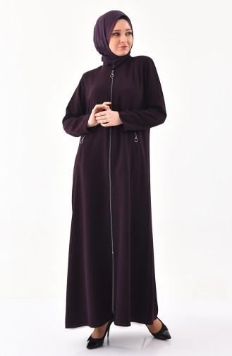 METEX Large Size Zippered Topcoat 1109-03 Purple 1109-03