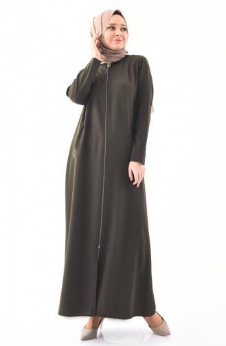 METEX Large Size Zippered Topcoat 1109-04 Khaki 1109-04