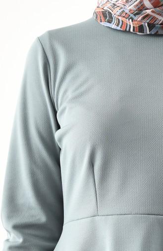 Asymmetric Tunic Skirt Double Suit 2727-07 Green 2727-07
